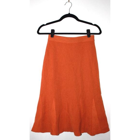 Beyond Threads Dresses & Skirts - Wool A-line Knit Swing Skirt